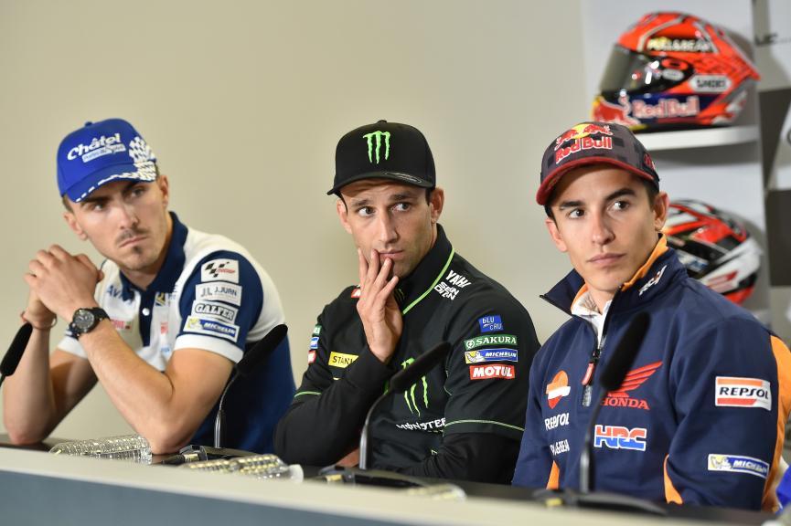 Loris Baz, Johann Zarco, Marc Marquez, HJC Helmets Grand Prix de France