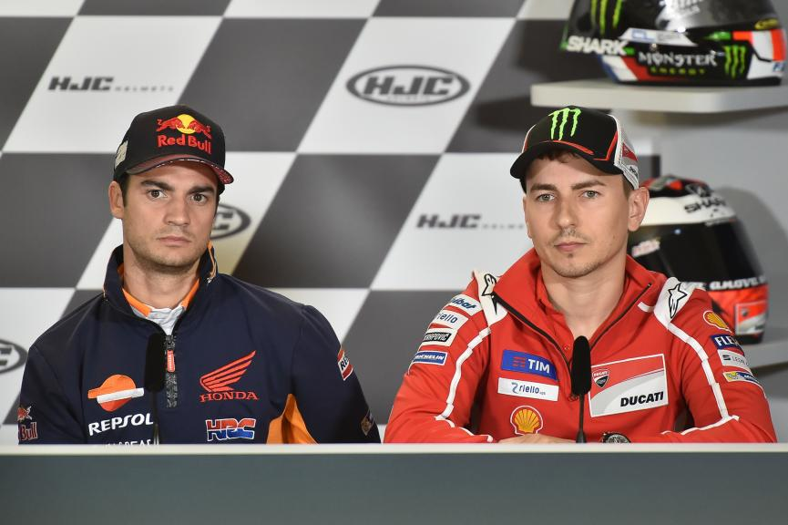 Dani Pedrosa, Jorge Lorenzo, HJC Helmets Grand Prix de France