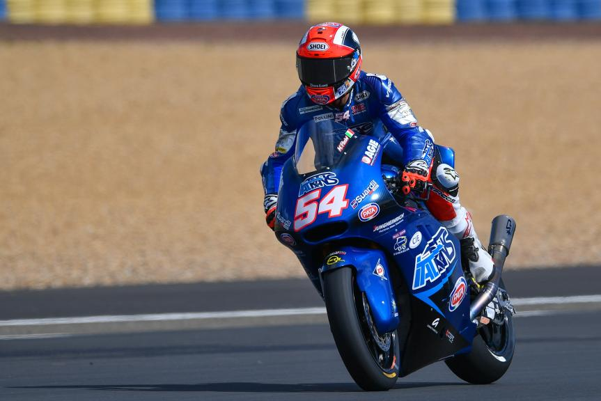 Mattia Pasini, Italtrans Racing Team, HJC Helmets Grand Prix de France