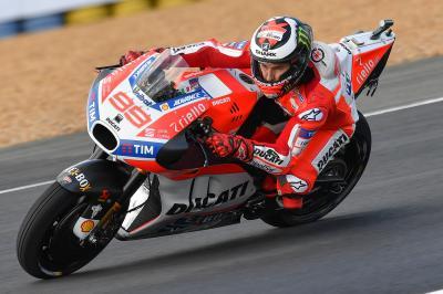 Lorenzo tuvo 'sensaciones opuestas' en la FP1 y en la FP2