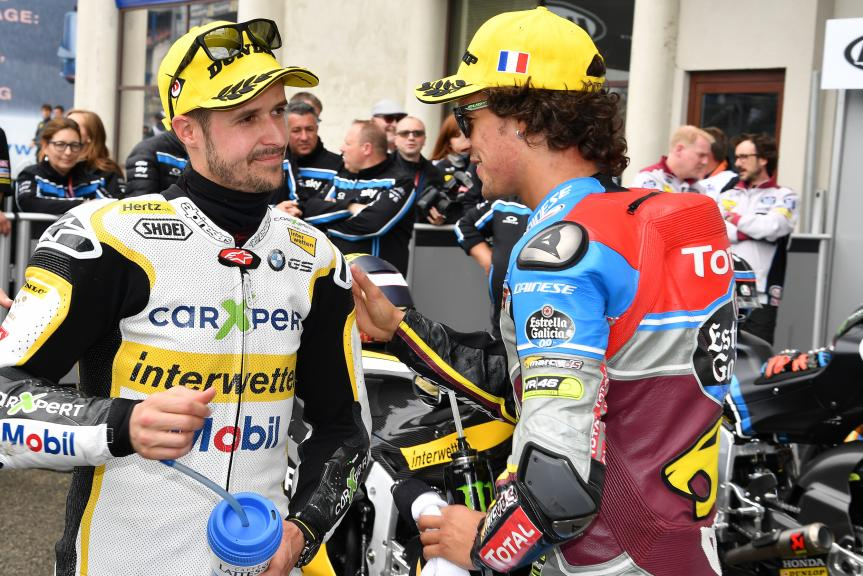 Thomas Luthi, Franco Morbidelli, HJC Helmets Grand Prix de France