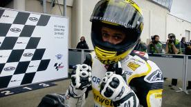 Swiss veteran Tom Luthi will start ahead of Pecco Bagnaia and Franco Morbidelli for the Moto2™ race at Le Mans