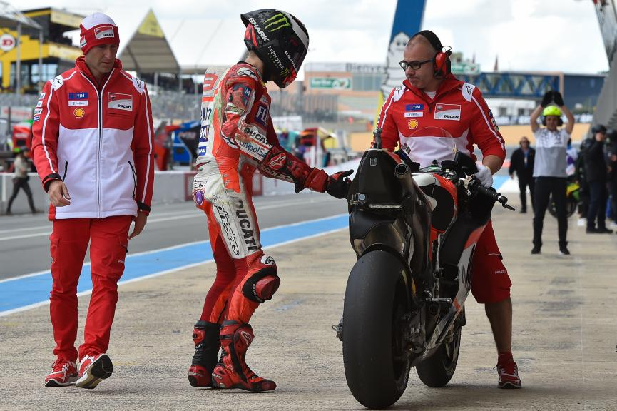 Jorge Lorenzo, Ducati Team, HJC Helmets Grand Prix de France