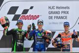 Maverick Vinales, Johann Zarco, Dani Pedrosa, HJC Helmets Grand Prix de France