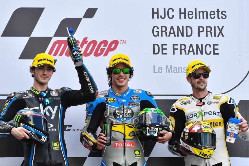 Franco Morbidelli, Francesco Bagnaia, Thomas Luthi, HJC Helmets Grand Prix de France