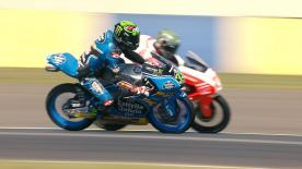 Some of the best overtaking moves from the Moto2 & Moto3 #FrenchGP races.  1. Nakarin Atiratphuvapat (Moto3) 50 points 2. Jules Danilo (Moto3) 41 points 3. Simone Corsi (Moto2) 36 points 4. Yonny Hernandez (Moto2) 34 points 5. Joan Mir (Moto3) 33 points