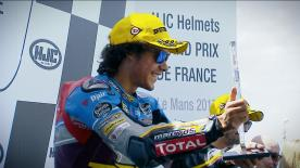 Franco Morbidelli confirmed his stronghold on the Moto2™ class by scoring his fourth win of the season in France