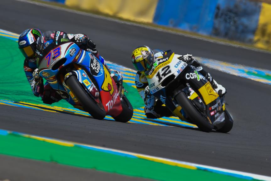 Alex Marquez, Thomas Luthi, HJC Helmets Grand Prix de France