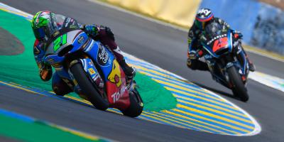 Morbidelli bests Bagnaia in cat-and-mouse contest in France