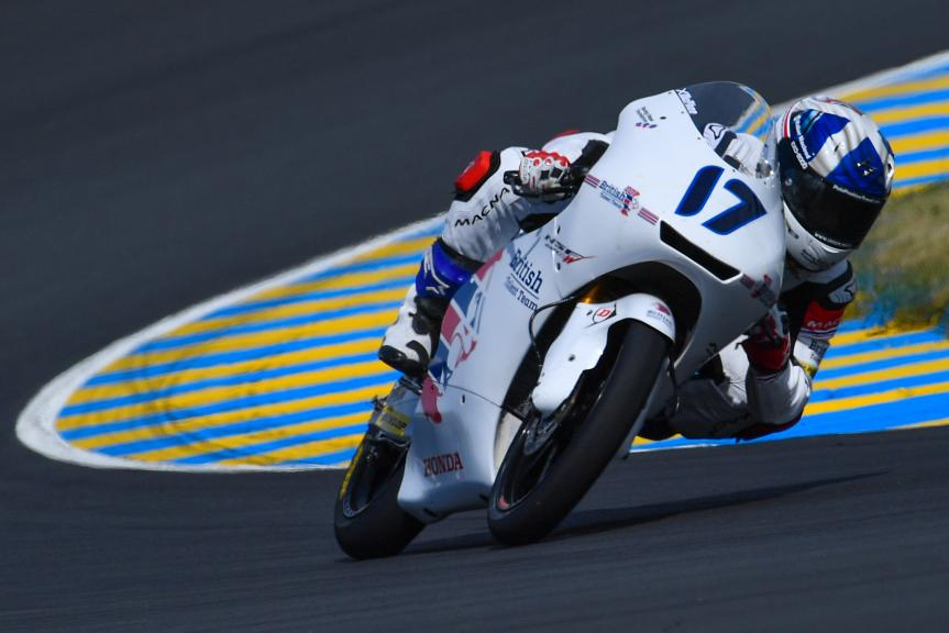 John Mcphee, British Talent Team, LeMans Moto2 & Moto3 Oficial Test