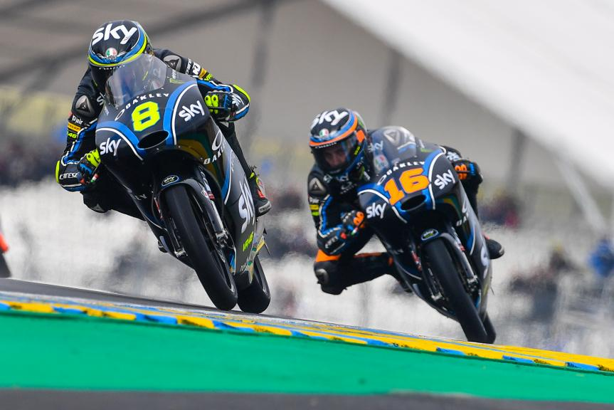 Nicolo Bulega, Andrea Migno, Sky Racing Team VR46, HJC Helmets Grand Prix de France