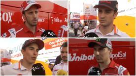 Wir haben uns mit verschiedenen MotoGP™ Fahrern nach dem Barcelona-Test über die neuen Vorderreifen unterhalten.