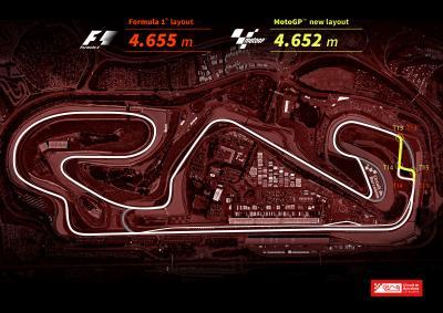 MotoGP riders on the new Catalunya layout