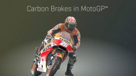 Stopping the fastest bikes in the world sees high lever pressure convert speed into heat with MotoGP™ carbon brake discs.
