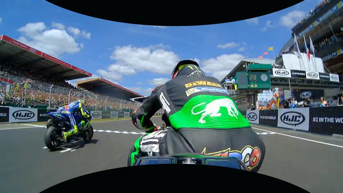 #FrenchGP: Zarco's Race Start in 360