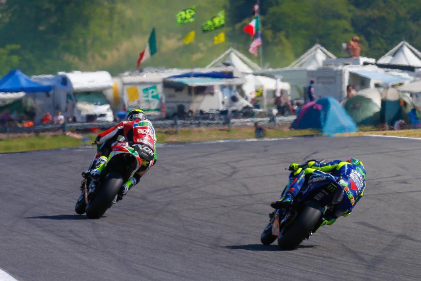 Valentino Rossi, Movistar Yamaha MotoGP, Aleix Espargaro, Aprilia Racing Team Gresini, Gran Premio d'Italia Oakley