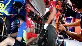 Im MotoGP Fahrerlager treffen verschiedenste Kulturen aufeinander. So arbeiten und leben die Teamds hier zusammen.