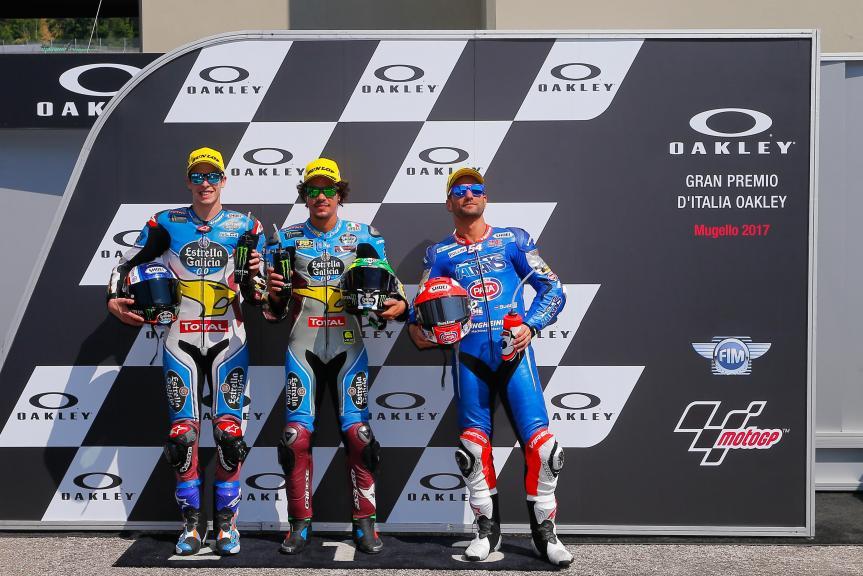 Franco Morbidelli, Alex Marquez, Mattia Pasini, Gran Premio d'Italia Oakley