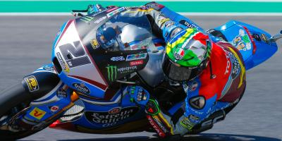 A tale of two rivals: Morbidelli heads Marquez for pole