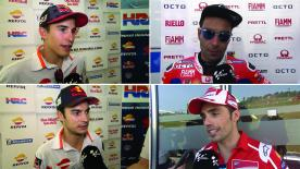 The  MotoGP™ riders give us feedback at the #ItalianGP.