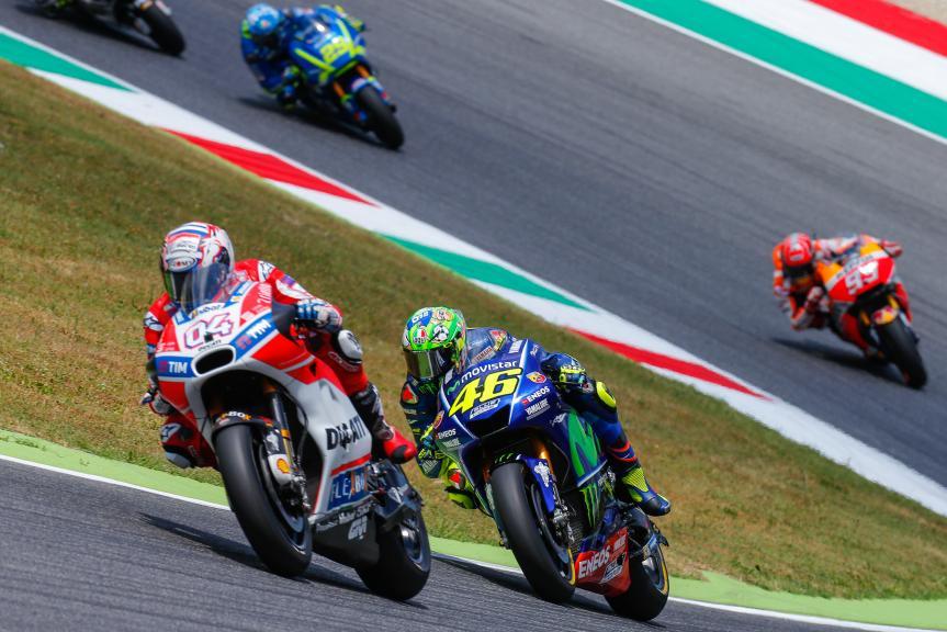 Andrea Dovizioso, Valentino Rossi, Gran Premio d'Italia Oakley