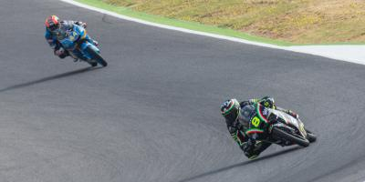 Bulega im Moto3™ Warm-Up vorn