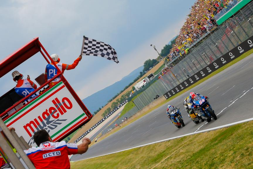 Mattia Pasini, Thomas Luthi, Alex Marquez, Gran Premio d'Italia Oakley