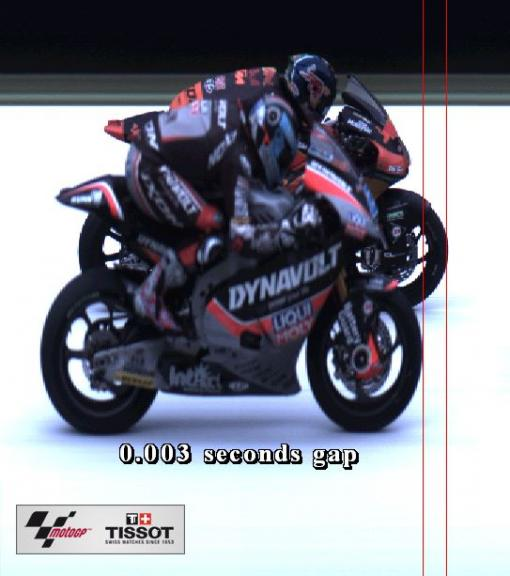 Photofinish Gran Premio d'Italia Moto2, 10th-11th riders 41-23