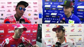 The fastest MotoGP™ riders of the day give us feedback on the Free Practice sessions at the #CatalanGP.