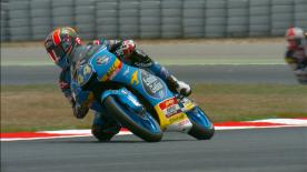 The Estrella Galicia 0,0 rider was quickest at the end of Friday, ahead of Romano Fenati and Championship leader, Joan Mir