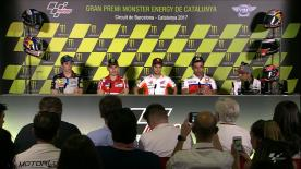 The fastest riders from MotoGP talk to the press