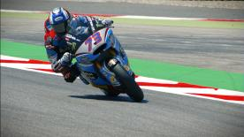 The rider from Cavera took pole position at the Circuit de Barcelona-Catalunya, ahead of Pasini and Baldassarri