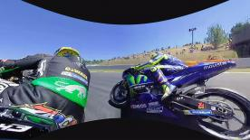 Enjoy the French rider's duel with the nine-time World Champion during the race at the Circuit de Barcelona-Catalunya