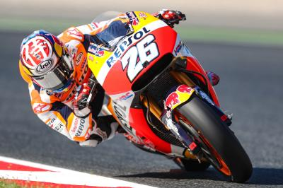 "Pedrosa: ""We can't think ahead, we just have to react"""