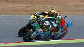 Some of the best overtaking moves from the Moto2 & Moto3 #CatalanGP races.  1. Nakarin Atiratphuvapat (Moto3) 54 points 2. Andrea Migno (Moto3) 51 points 3. Hafizh Syahrin (Moto2) 46 points 4. Jules Danilo (Moto3) 41 points 5. Simone Corsi (Moto2) 39 points