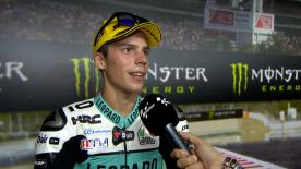 The Moto3™ World Championship leader took his fourth win of the season at the Barcelona-Catalunya Circuit