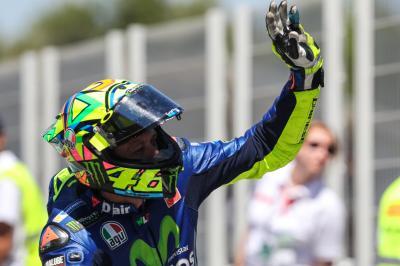 Mal día para Rossi (8.º) y Viñales (10.º)
