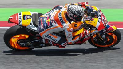 Márquez se impone en el test de Catalunya