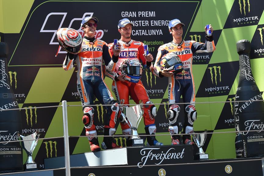 Andrea Dovizioso, Marc Marquez, Dani Pedrosa, Gran Premi Monster Energy de Catalunya