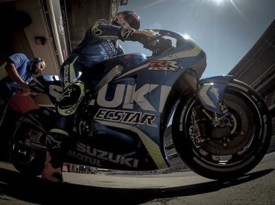 Rins returns // @alexrins first outing on a #MotoGP bike