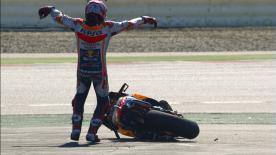 A detailed look at the cause and effect of the noteworthy crashes of the #CatalanGP.