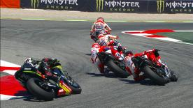 An explanation of some of the most remarkable overtakes that took place at the #CatalanGP.