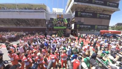 Free video: il podio del #CatalanGP in 360