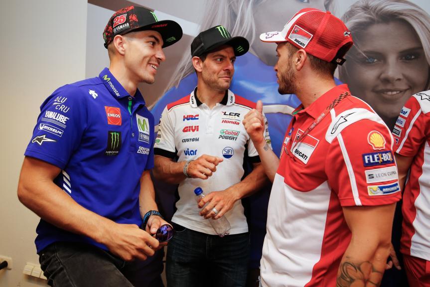 Maverick Vinales, Cal Crutchlow, Andrea Dovizioso, Motul TT Assen