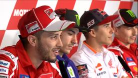 In the Press Conference for the #DutchGP, the Italian rider is surprised at being so competitive after a difficult start to 2017
