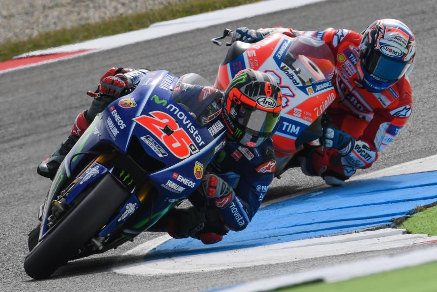 Maverick Vinales, Movistar Yamaha MotoGP, Andrea Dovizioso, Ducati Team, Motul TT Assen