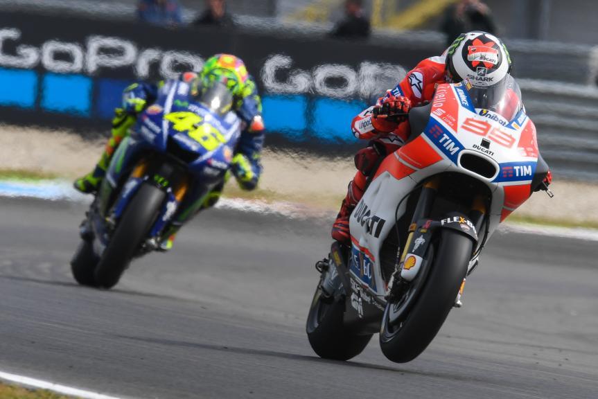 Jorge Lorenzo, Ducati Team, Valentino Rossi, Movistar Yamaha MotoGP, Motul TT Assen