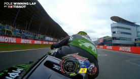 Relive Zarco' pole-winning lap's pole setting lap at the TT Circuit Assen, complete with telemetry data.