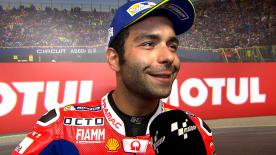 The Octo Pramac Racing rider will start from the first row in Sunday's race