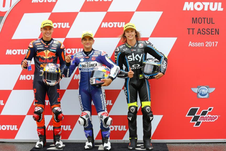 Jorge Martin, Bo Bendsneyder, Nicolo Bulega, Motul TT Assen